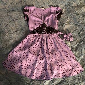 Bebe Purple Lace Trimmed Dress XS